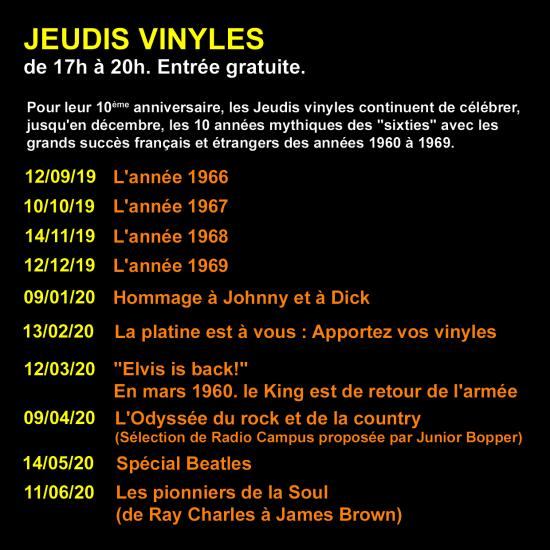 Dates jeudis vinyles copie